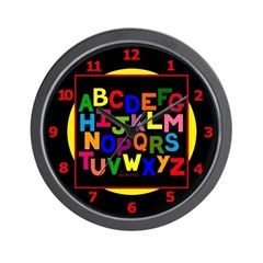 Colorful ABC Wall Clock