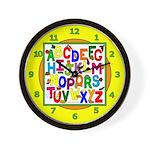 Healthy Food ABC Wall Clock