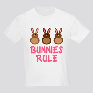Easter Bunnies Rule Kids Light T-Shirt