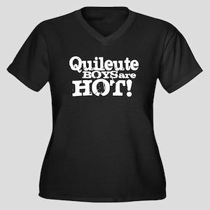 Quileute Boys Are Hot! Women's Plus Size V-Neck Da