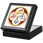 Masonic York Rite Circle Keepsake Box