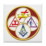 Masonic York Rite Circle Tile Coaster