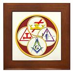 Masonic York Rite Circle Framed Tile