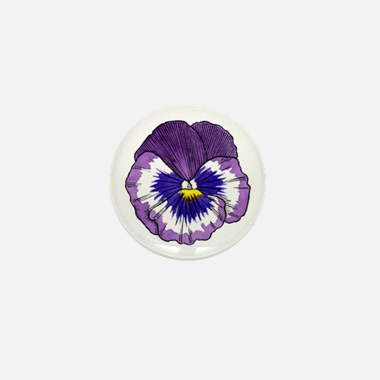 Purple Pansy Mini Button