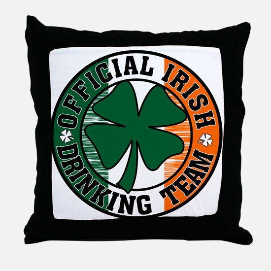 Cute Irish drinking Throw Pillow