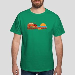 Narragansett RI - Surfing Design Dark T-Shirt
