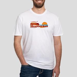 Narragansett RI - Surfing Design Fitted T-Shirt