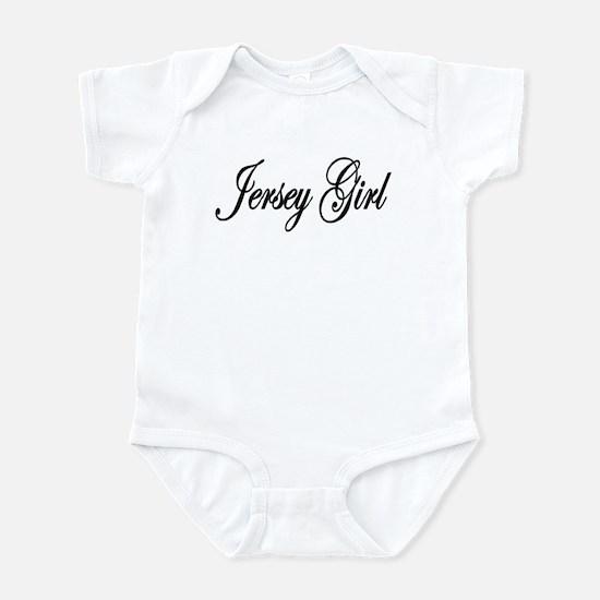 Jersey Girl White Letters Infant Bodysuit