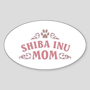 Shiba Inu Mom Sticker (Oval)