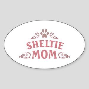 Sheltie Mom Sticker (Oval)