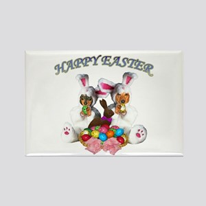Easter Doxies Rectangle Magnet