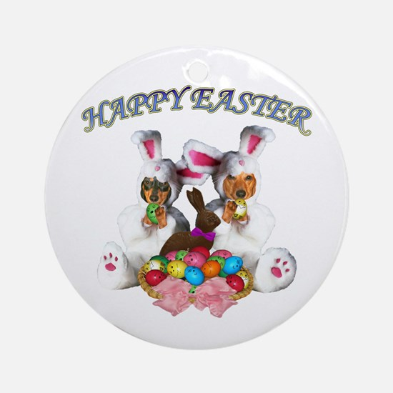 Easter Doxies Ornament (Round)