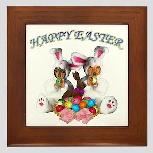 Easter Doxies Framed Tile