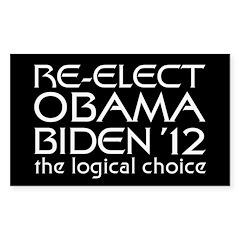 Logical Obama 2012 Sticker (Rectangle 50 pk)