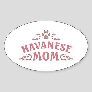 Havanese Mom Sticker (Oval)