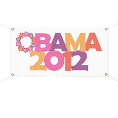 Obama Flowers 2012 Banner