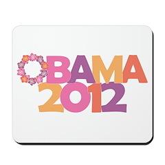 Obama Flowers 2012 Mousepad