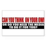 Can You Think On Your Own Sticker (Rectangle 50 pk