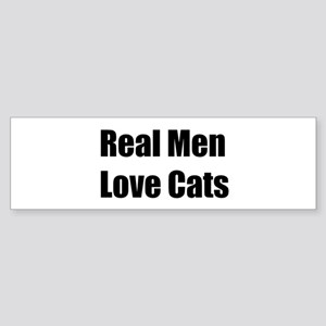 Real Men Love Cats Bumper Sticker