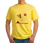 Love My Jack Russell Terrier Yellow T-Shirt