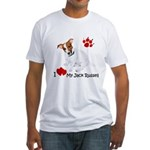Love My Jack Russell Terrier Fitted T-Shirt