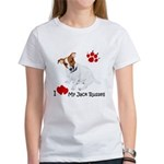Love My Jack Russell Terrier Women's T-Shirt