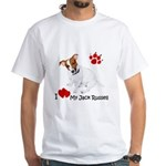Love My Jack Russell Terrier White T-Shirt