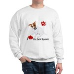 Love My Jack Russell Terrier Sweatshirt