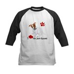 Love My Jack Russell Terrier Kids Baseball Jersey