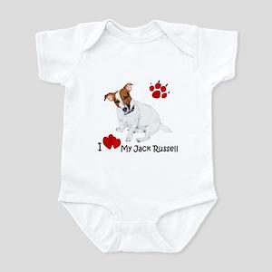 Love My Jack Russell Terrier Infant Bodysuit