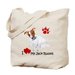 Love My Jack Russell Terrier Tote Bag
