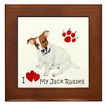 Love My Jack Russell Terrier Framed Tile