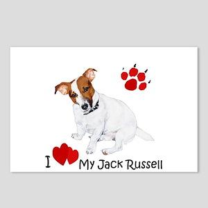 Love My Jack Russell Terrier Postcards (Package of
