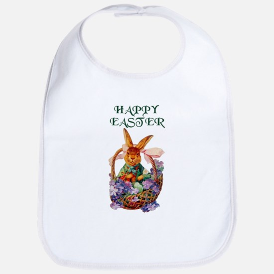 Vintage Easter Bunny Bib Baby Shower Gift