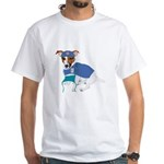 Jack Russell Scrubs White T-Shirt