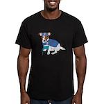 Jack Russell Scrubs Men's Fitted T-Shirt (dark)