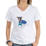 Jack Russell Scrubs Women's V-Neck T-Shirt