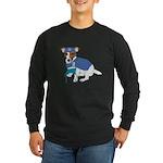 Jack Russell Scrubs Long Sleeve Dark T-Shirt