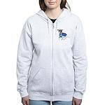 Jack Russell Scrubs Women's Zip Hoodie