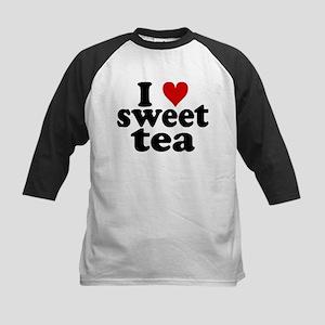 I Heart Sweet Tea Kids Baseball Jersey