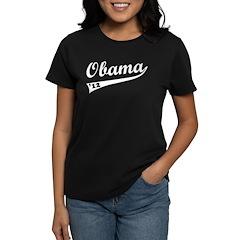Obama 2012 Swish Women's Dark T-Shirt