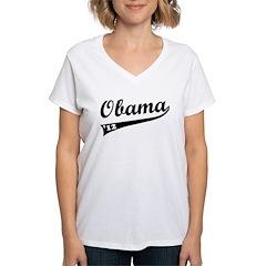 Obama 2012 Swish Women's V-Neck T-Shirt