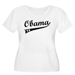 Obama 2012 Swish Women's Plus Size Scoop Neck T-Sh