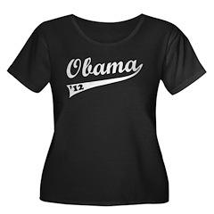 Obama 2012 Swish Women's Plus Size Scoop Neck Dark