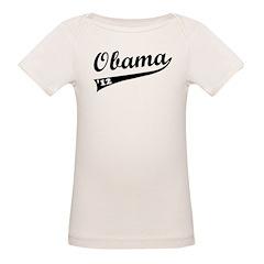 Obama 2012 Swish Organic Baby T-Shirt