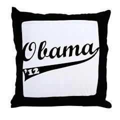 Obama 2012 Swish Throw Pillow