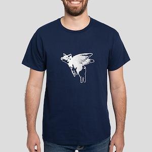 Flying Pig Dark T-Shirt