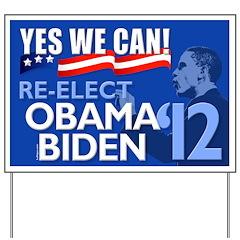 Re-Elect Obama-Biden Yard Sign