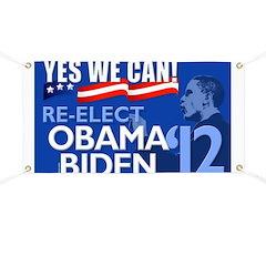 Re-Elect Obama-Biden Banner