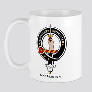 MacAlister Clan Crest Badge Mug